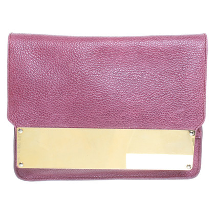 Sophie Hulme clutch in Fuchsia