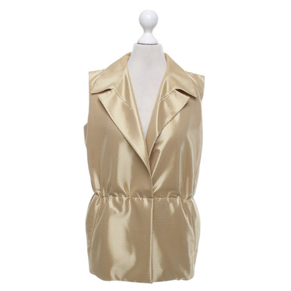 Jil Sander Vest in beige / gold
