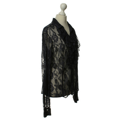 Ermanno Scervino Transparante lace blouse