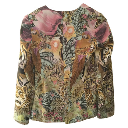 Maison Scotch Blazer met jungle-print