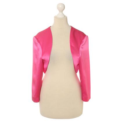 Rena Lange Satin-Bolero in Pink
