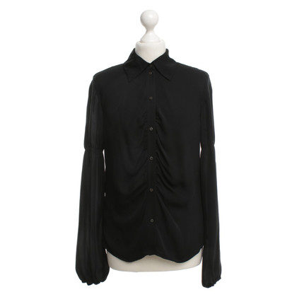 Laurèl Silk blouse in black