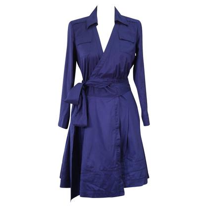 Diane von Furstenberg Avvolgere vestito in blu scuro