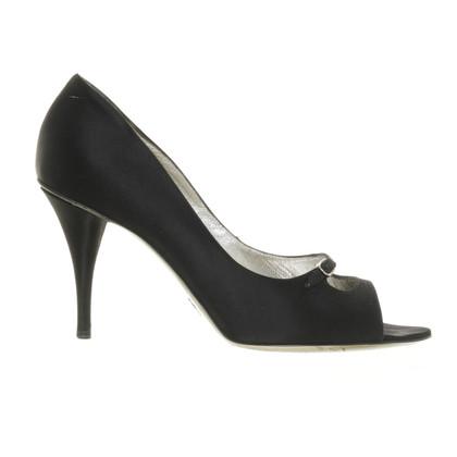 Dolce & Gabbana Black peep-toes