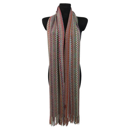 Missoni Knitted scarf with effect yarn