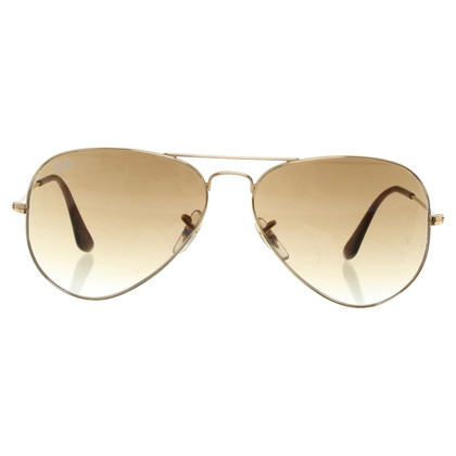 Ray Ban Gold colored sunglasses