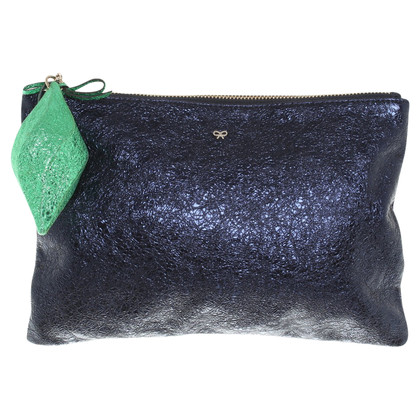 Anya Hindmarch Clutch in Blau