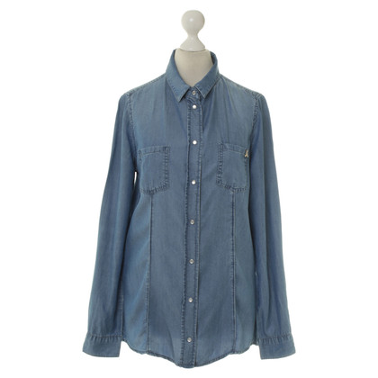 Patrizia Pepe Camicia in denim blu