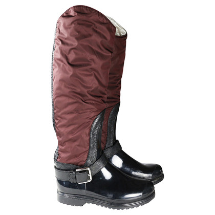 Dolce & Gabbana Rubber boots with nylon/leather