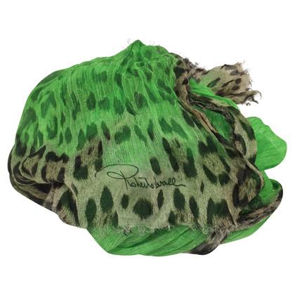 Roberto Cavalli Fluo green scarf