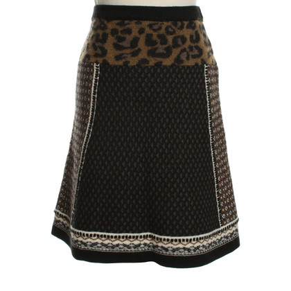 Etro Knitted skirt with pattern
