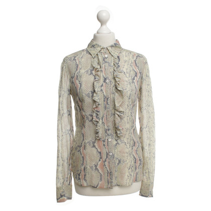 Strenesse Silk blouse in reptile look