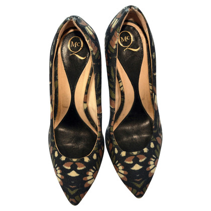Alexander McQueen abstract floral print high heels