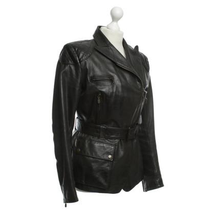 Belstaff La giacca di pelle stile biker