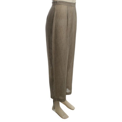 Calvin Klein Silk trousers in bicolor