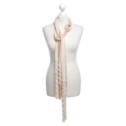 Wolford silk scarf with pleated