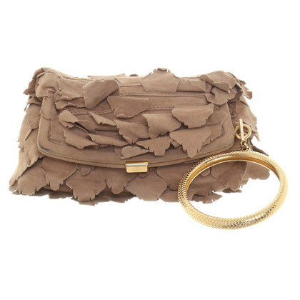 Roberto Cavalli Leather-clutch in light brown