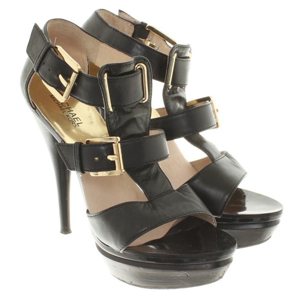 michael kors sandaletten in schwarz second hand michael kors sandaletten in schwarz gebraucht. Black Bedroom Furniture Sets. Home Design Ideas