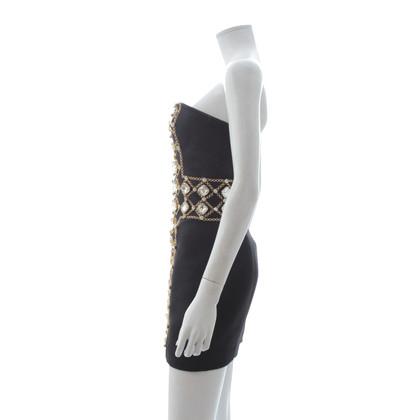 Balmain Kleid mit Schmucksteinen