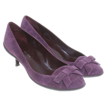 Donna Karan Suede Pumps purple