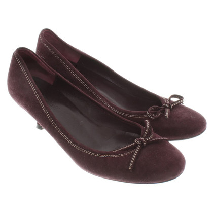 L.K. Bennett Bordeaux-colored Kitten-Heels