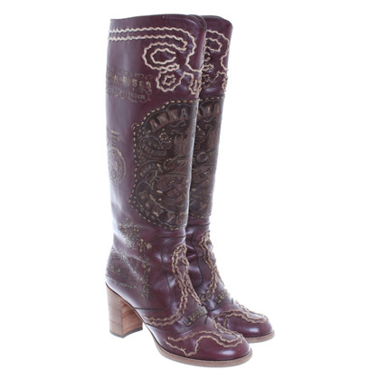 Anna Sui Boots with embroidery