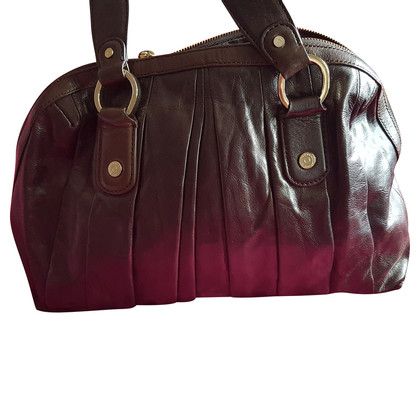 DKNY Leather shoulder bag in Brown