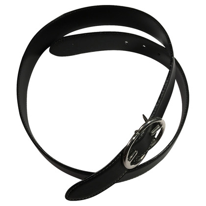 Escada Black leather belt