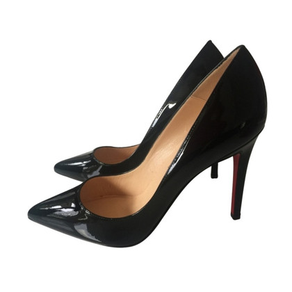 christian louboutin schwarze high heels second hand. Black Bedroom Furniture Sets. Home Design Ideas