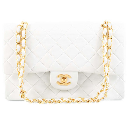 "Chanel ""2.55 Flap Bag"" in white"