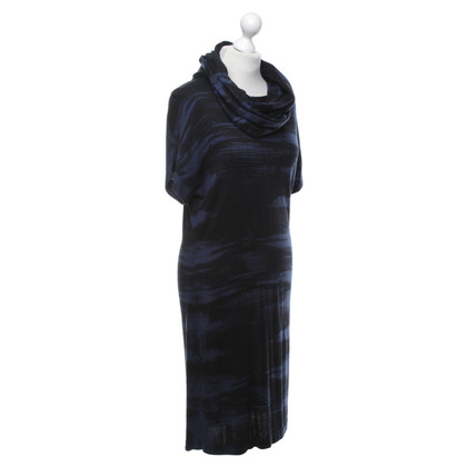 Hugo Boss Knitted dress in blue / black
