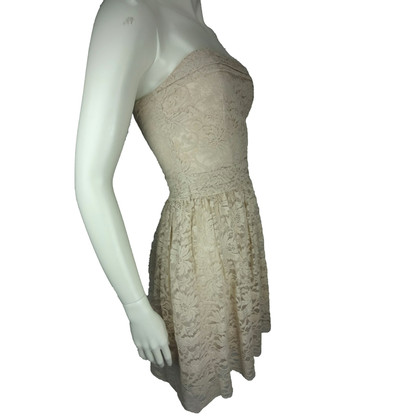 Paul & Joe Nude lace strapless dress