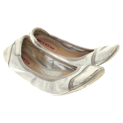 Prada ballerine color argento