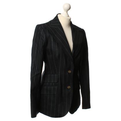Dolce & Gabbana Dark blue pin-stripe Blazer