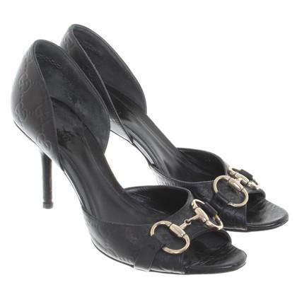 Gucci Peeptoes in black