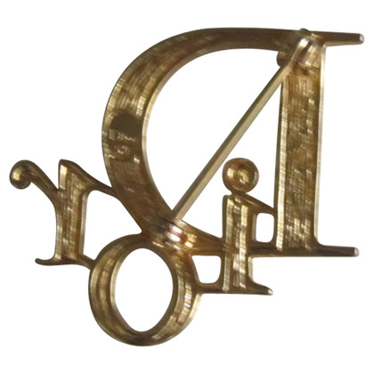 Christian Dior Gold colored brooch
