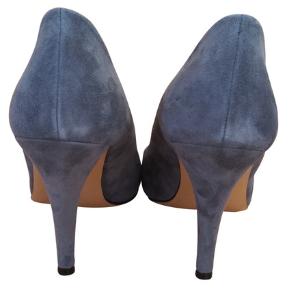 Guido Maria Kretschmer Gray Blue suede pump