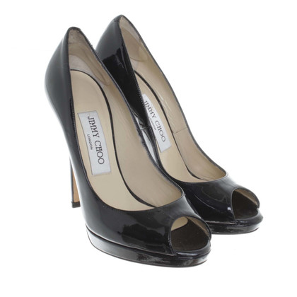 Jimmy Choo High heel peep-toes in black