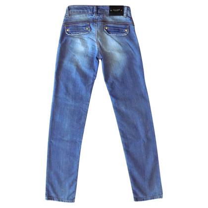 Roberto Cavalli Leopard print detail jeans