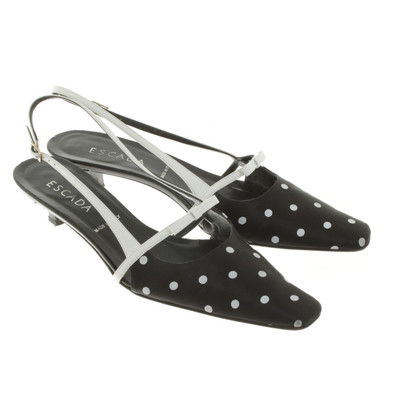 Escada pumps with dot pattern