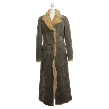 Ermanno Scervino Coat with faux fur
