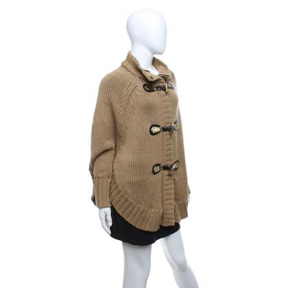 Michael Kors Poncho lavorato a maglia in beige