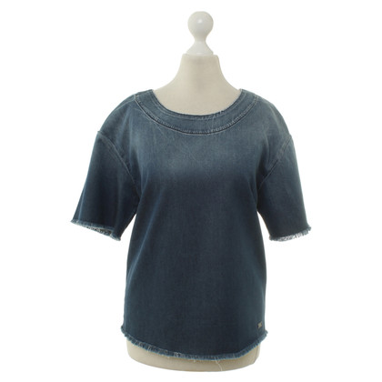 7 For All Mankind Denim Top blauw