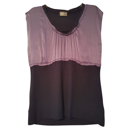 Philosophy di Alberta Ferretti Top in bicolore