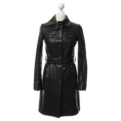 Dolce & Gabbana Mantel aus Leder