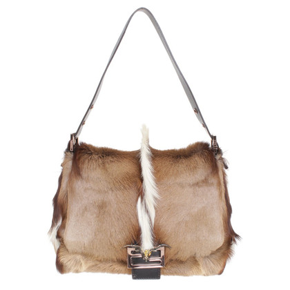Fendi Handtasche mit Pelzbesatz