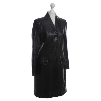 Hugo Boss Cappotto di pelle nero