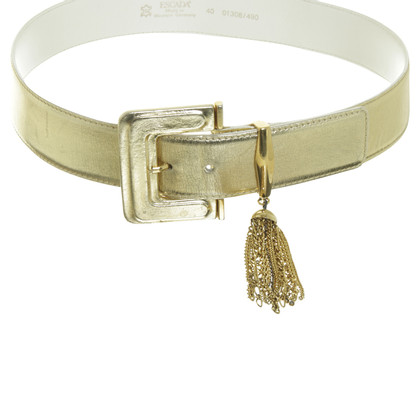 Escada Belt in gold metallic