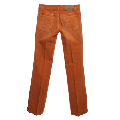 Gucci Cordhose in Orange