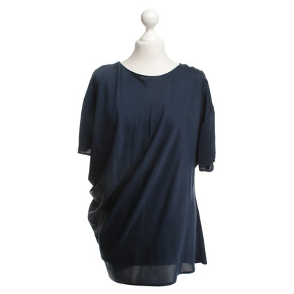 Lanvin Silk Top in donkerblauw